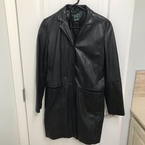 Ladies Ralph Lauren leather coat